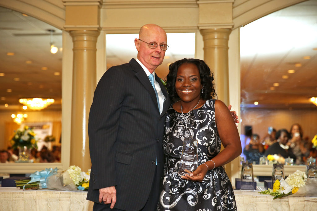 John Lanier, president of NJLN, with Shanda Johnson photo