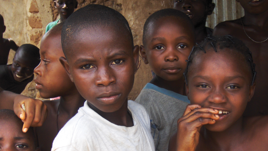 In Nigeria, children attend a community health event.