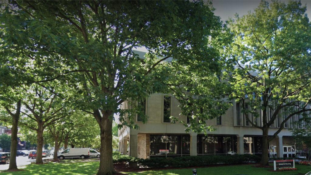 Exterior of 180 University Ave, Ackerson Hall, in Newark, NJ