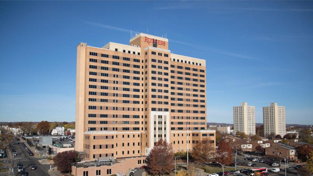 Exterior photo of the Stanley S. Bergen Building in Newark