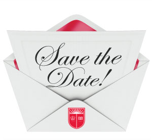 Save the Date! (notecard in a rutgers envelope)